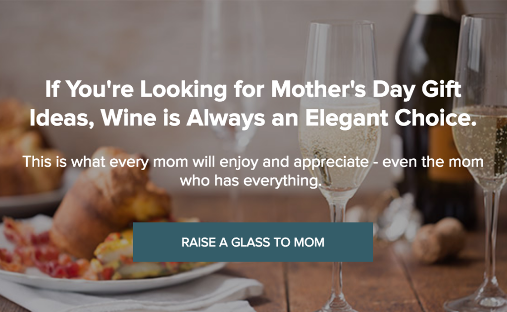 SAVE 15% ON BEST WINES FOR MOTHER'S DAY WITH COUPON MOTHERSDAY.